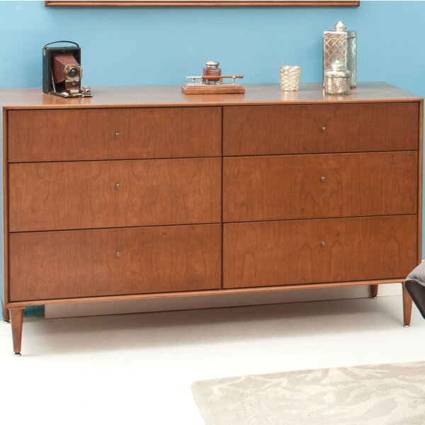 Bounds 6 Drawer Double Dresser by Corrigan Studio