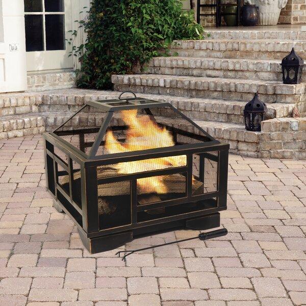 Thresher Deep Steel Wood Burning Fire Pit By Ebern Designs
