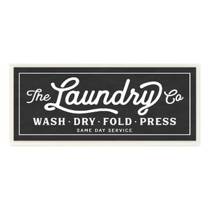 'Vintage Laundry Sign' Textual Art on Wrapped Canvas by Stupell Industries