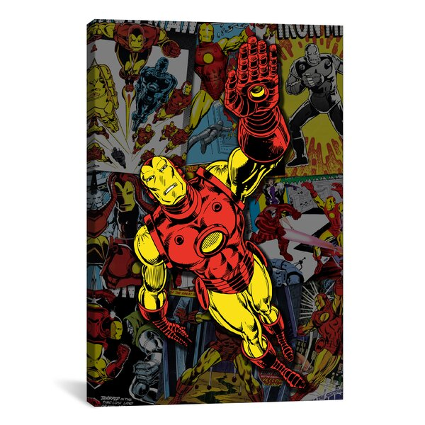 Marvel Comics Iron Man Cover Collage Graphic Art on Wrapped Canvas by iCanvas