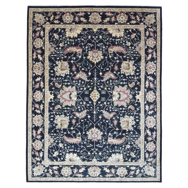 One-of-a-Kind Pearle Hand Woven Wool Black Area Rug by Isabelline