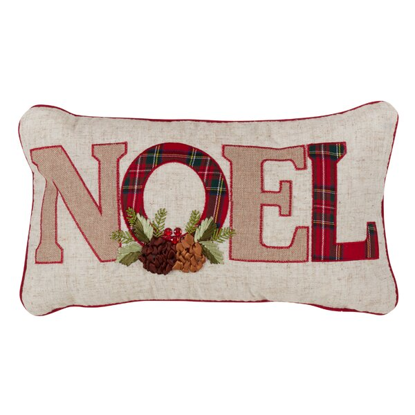 Rafe Christmas Noel Plaid Lumbar Pillow by The Holiday Aisle