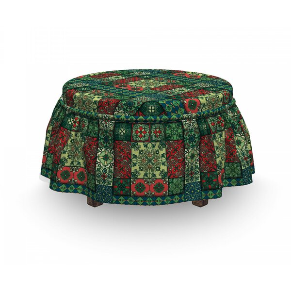 Azulejo Tiles Ottoman Slipcover (Set Of 2) By East Urban Home