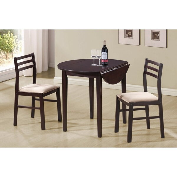 Karlov Casual Wooden 3 Piece Extendable Breakfast Nook Dining Set by Winston Porter