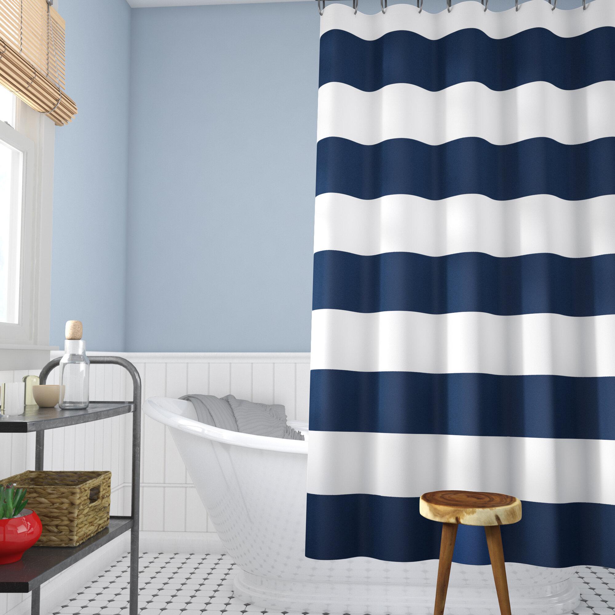 Beachcrest Home Berwyn Fabric Shower Curtain Reviews