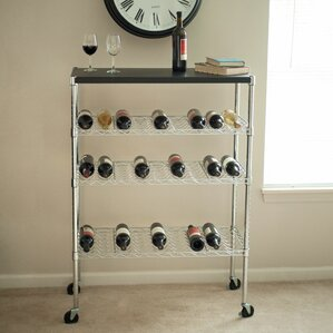 27 Bottle Floor Wine Rack by Lavish Home