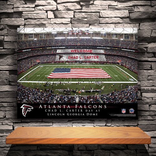 Personalized Stadium Photographic Print on Canvas