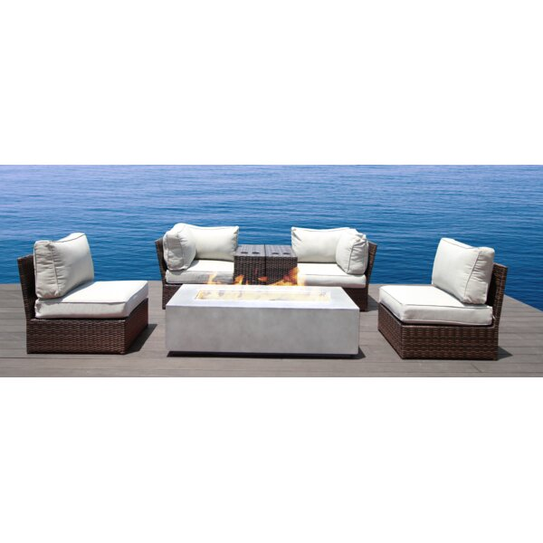 Vasil 7 Piece Sectional Seating Group with Cushions by Orren Ellis