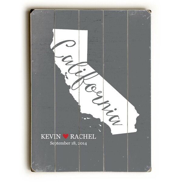 Personalized California Textual Art Multi-Piece Image on Wood by Artehouse LLC