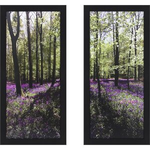 'Lavender Field I' 2 Piece Framed Photographic Print Set by Red Barrel Studio