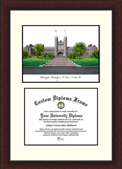 NCAA Washington University in St. Louis Legacy Scholar Diploma Picture Frame by Campus Images