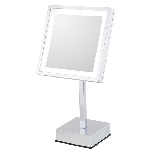 Maryetta Modern Lighted Magnifying Bathroom / Vanity Mirror