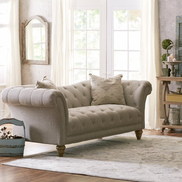 versailles chesterfield sofa reviews birch lane. Black Bedroom Furniture Sets. Home Design Ideas