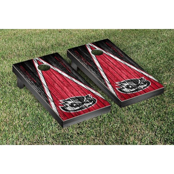 Hawaii West Oahu UHWO Pueo Triangle Weathered Version Cornhole Game Set by Victory Tailgate