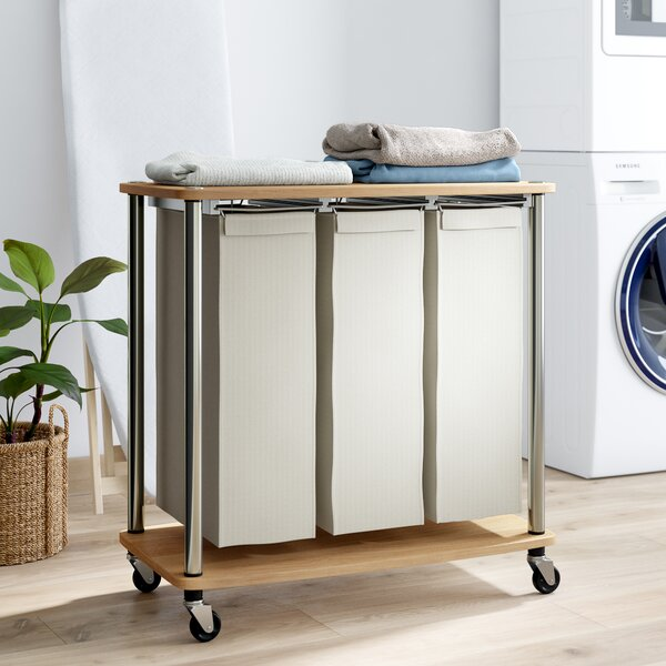 Laundry Sorter Folding Table Wayfair