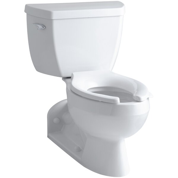 Barrington 1.6 GPF Elongated Two-Piece Toilet (Seat Not Included) by Kohler