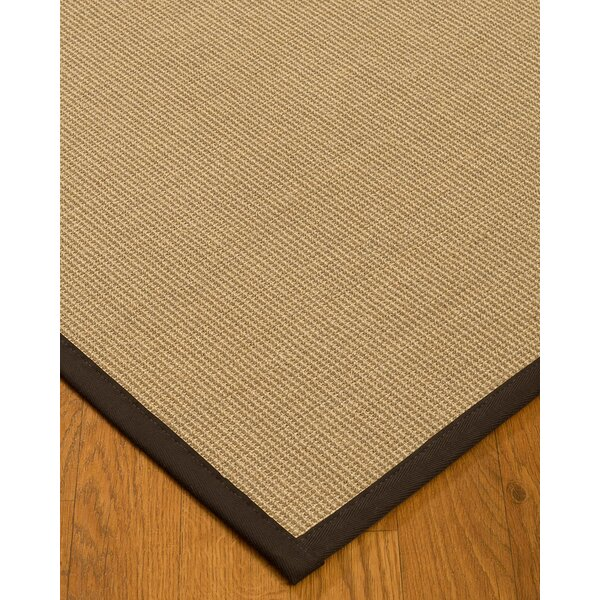 Atwell Border Hand-Woven Gray/Fudge Area Rug by Bayou Breeze