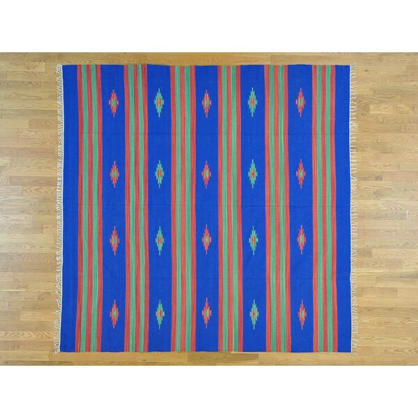 One-of-a-Kind Bienville Killim Design Handwoven Wool Area Rug by Isabelline