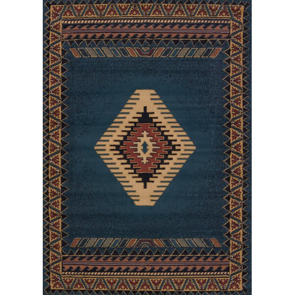Hyacinthe Tucson Blue Area Rug by Loon Peak