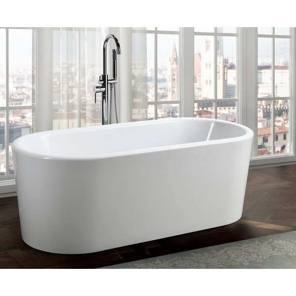 Padua 63 x 28 Freestanding Soaking Bathtub by Bellaterra Home