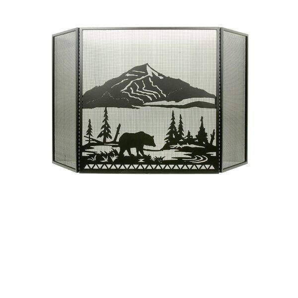 Bear Creek 3 Panel Fireplace Screen By Meyda Tiffany