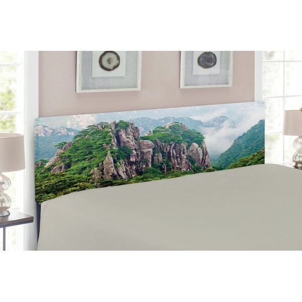 Mountain Upholstered Panel Headboard by East Urban Home