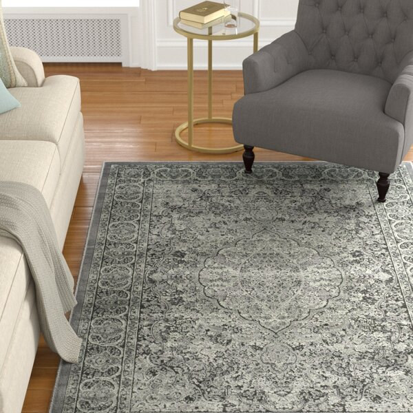 Patrick Light Gray/Anthracite Area Rug by Charlton Home