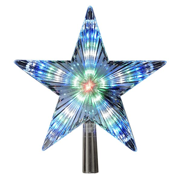 Color-Changing LED Star Treetop by Kurt Adler