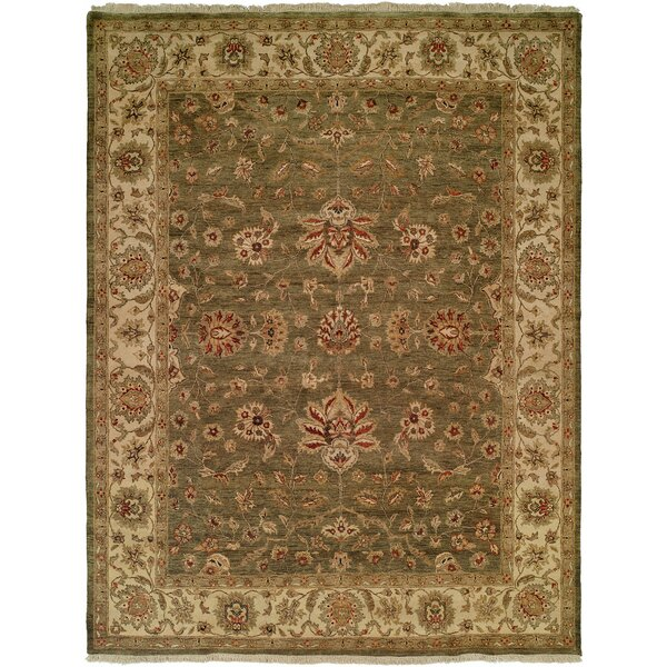 Hand-Knotted Brown Area Rug by Meridian Rugmakers