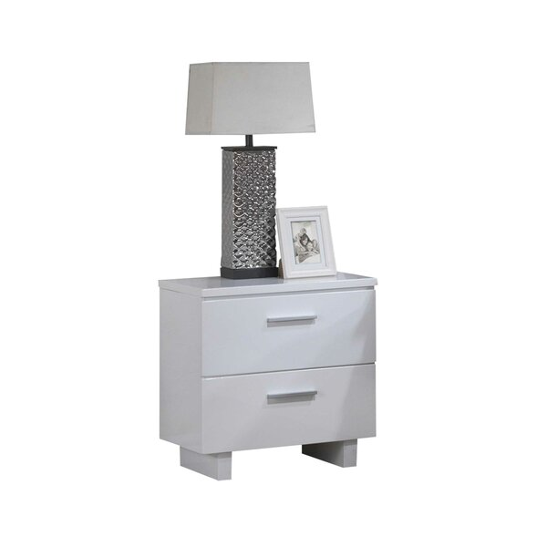 Flomaton 2 Drawer Nightstand by Orren Ellis