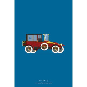 'Famous Cars Series: Titanic' Graphic Art Print on Canvas by East Urban Home