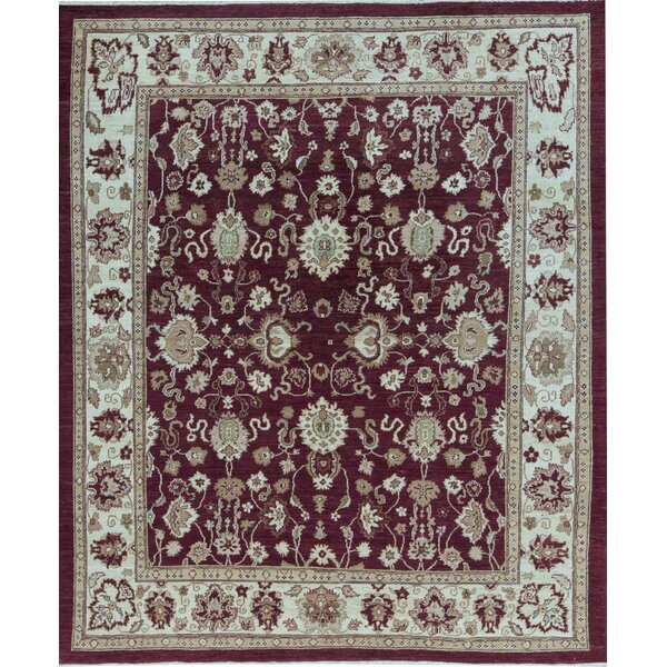 Sultanabad Oriental Hand-Knotted Wool Red/Gold Area Rug