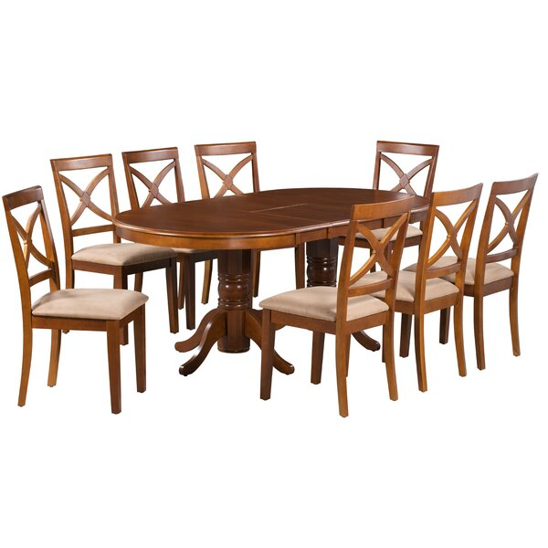 Barbera 7 Piece Extendable Solid Wood Dining Set by Alcott Hill