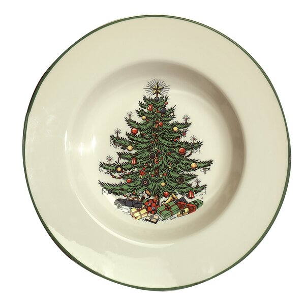 Original Christmas Tree 9.75 Traditional Rim Soup (Set of 4) by The Holiday Aisle