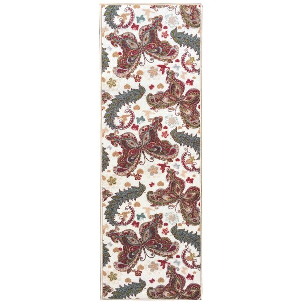 Sweet Home Butterfly Cream Area Rug by sweet home stores