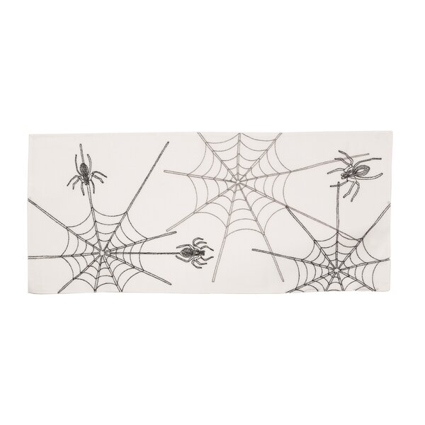Cloutier Halloween Spider Web Table Runner by The Holiday Aisle
