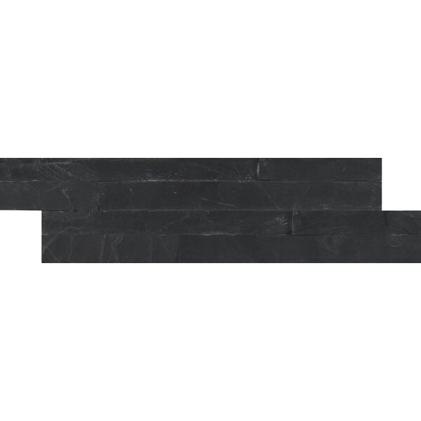 Premium Slate Mosaic Tile in Black by MSI