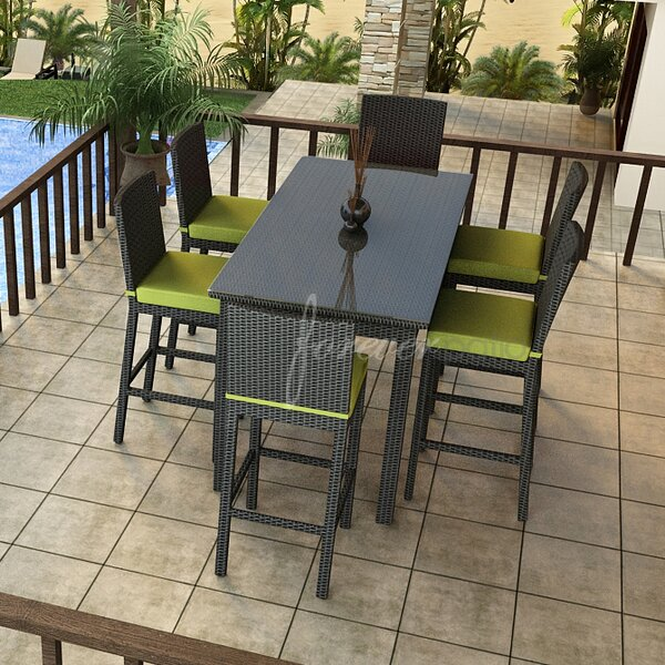 Barbados 7 Piece Bar Height Dining Set with Sunbrella Cushions by Forever Patio