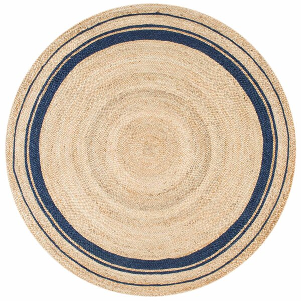 Somers Beige/Denim Area Rug by Breakwater Bay
