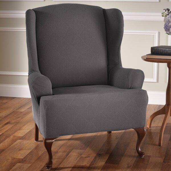 Levine T-Cushion Wingback Slipcover by Red Barrel Studio