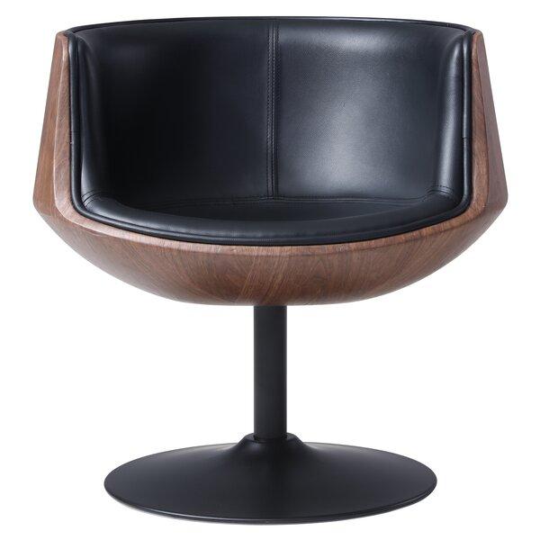 Rudd Swivel Barrel Chair by Orren Ellis