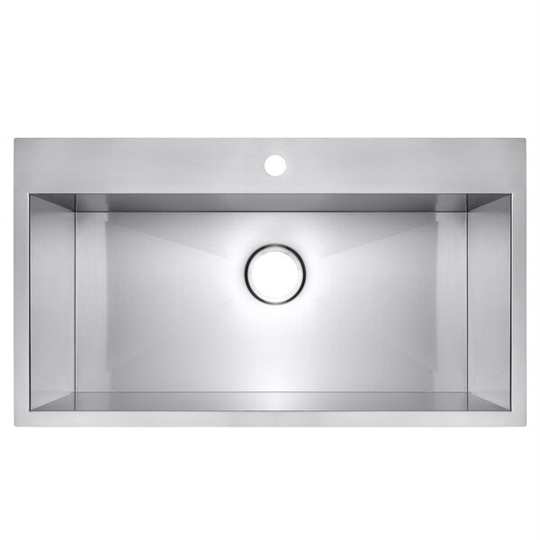 30 x 18 Drop-In Top Mount Stainless Steel Single Bowl Kitchen Sink by AKDY