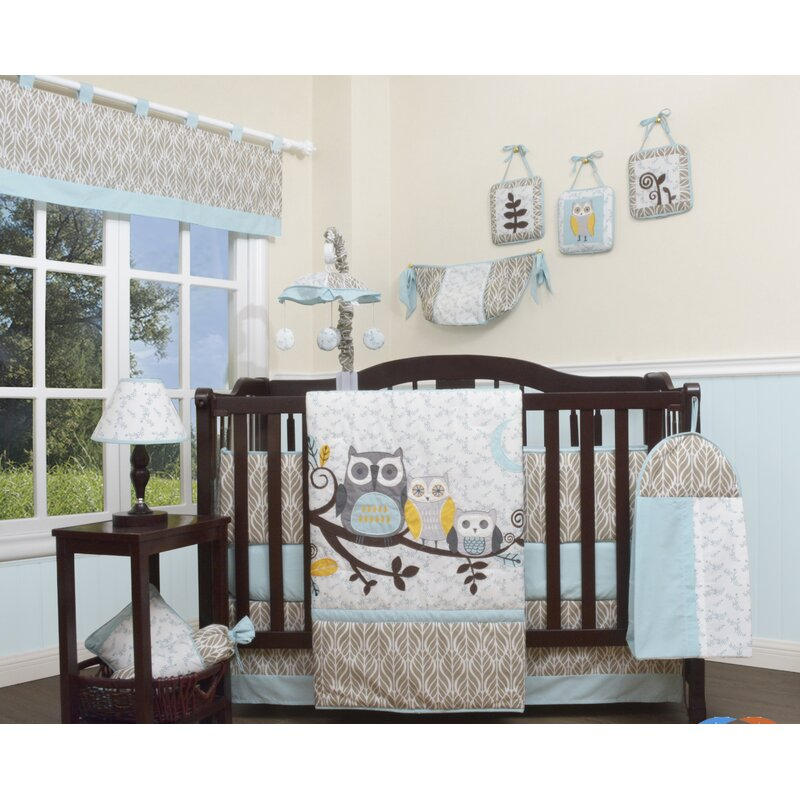 Enchanted Forest Owls Family 13 Piece Crib Bedding Set