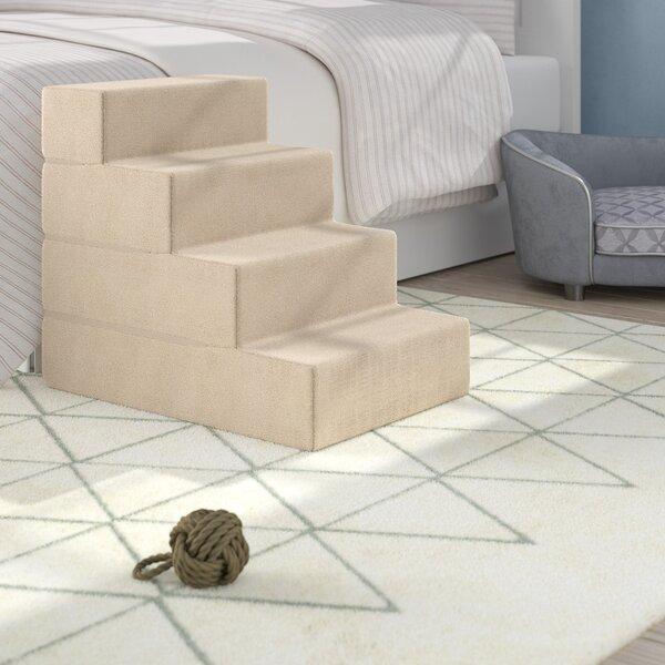 Dashiel Comfort Foam 4 Step Pet Stair By Archie Oscar.