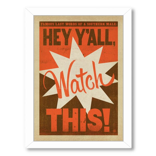 Watch This Framed Vintage Advertisement by East Urban Home