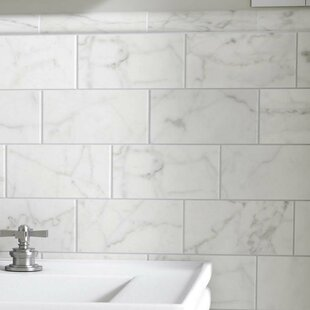 Karra Carrara 3 X 6 Ceramic Subway Tile In Matte White Gray