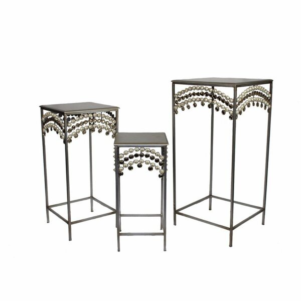 Cosme Resplendent Metallic 3 Piece Nesting Tables By World Menagerie