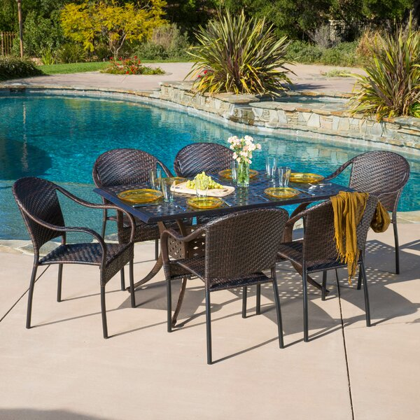Rosier 7 Piece Dining Set by Alcott Hill