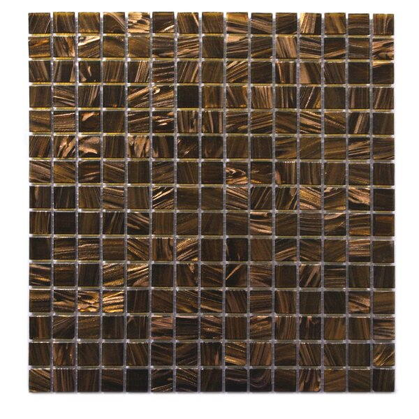 Venus 0.63 x 0.63 Glass Mosaic Tile in Brown Neon by Abolos
