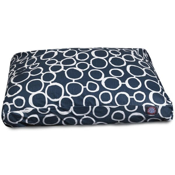 Fusion Rectangle Pet Bed with Waterproof Denier Base by Majestic Pet Products